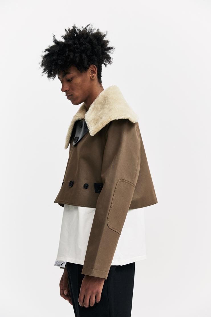 Xander Zhou Cropped Buttoned Jacket A/W 17 aw17 fitted green coat xandar zou
