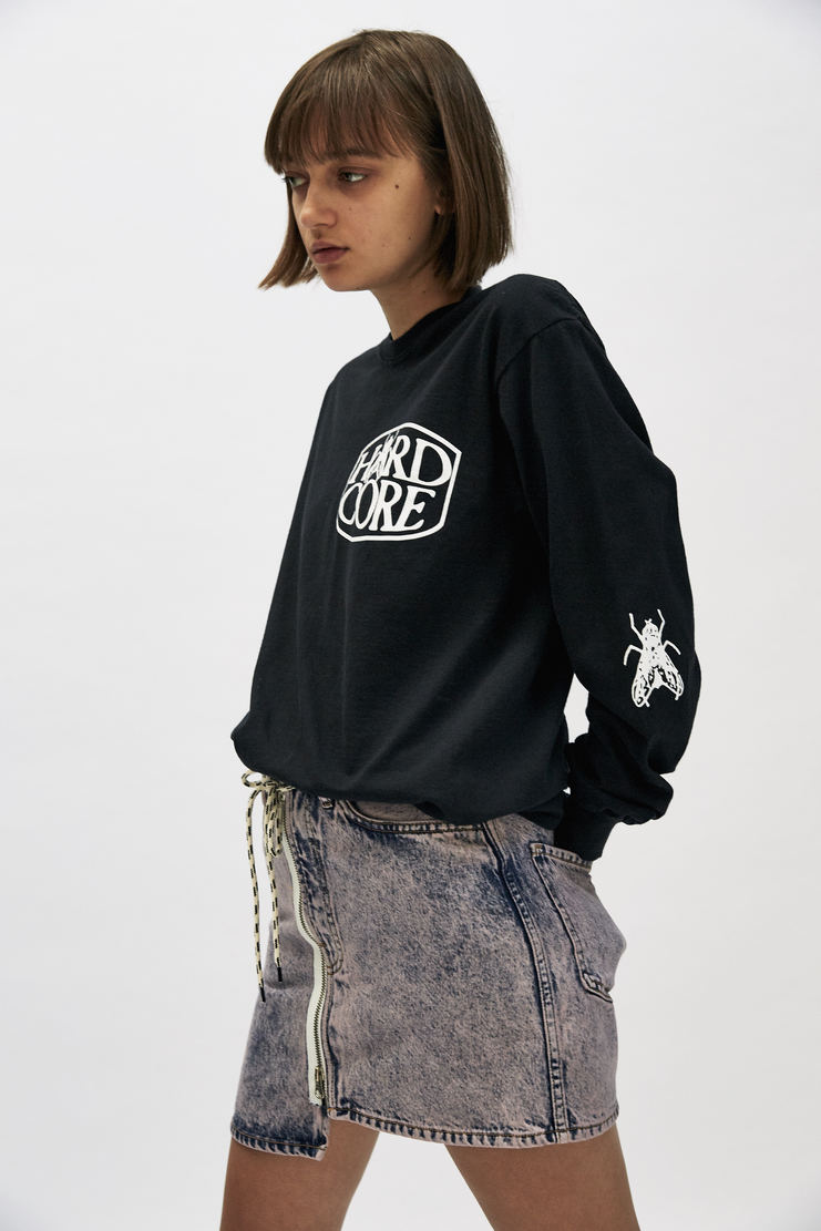 ARIES Hardcore Long Sleeve T-shirt top insect black graphic logo a/w 17 aw17