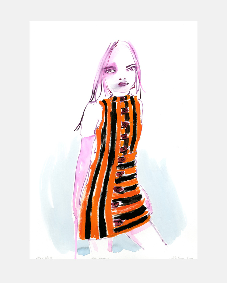 Louis Vuitton S/S 15, Abbey McCulloch, fashion illustration, showstudio