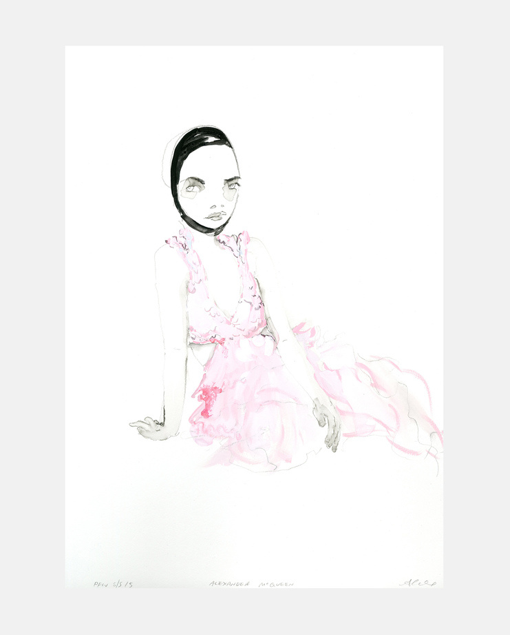 Alexander McQueen S/S 15, Abbey McCulloch, fashion illustration, showstudio