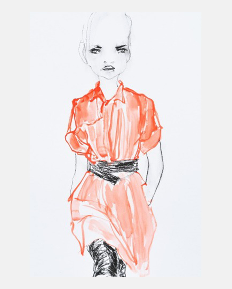 A.F. Vandervorst S/S 15, Abbey McCulloch, fashion illustration, showstudio
