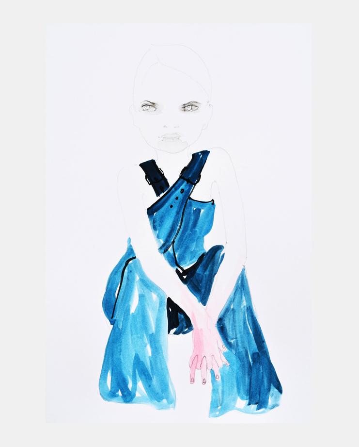 Stella McCartney S/S 15, Abbey McCulloch, fashion illustration, showstudio
