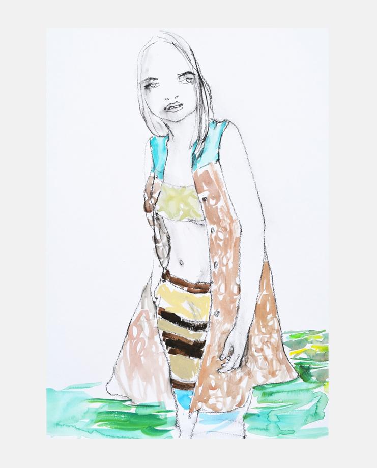 Dries Van Noten S/S 15, Abbey McCulloch, fashion illustration, showstudio