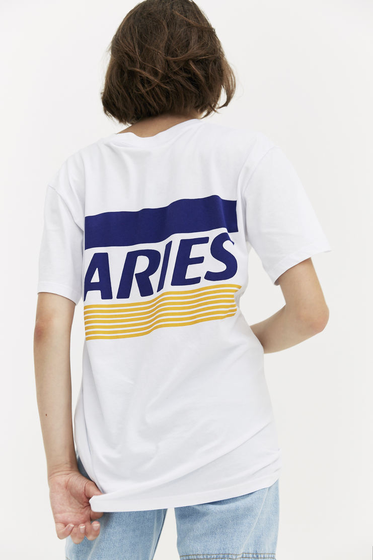 ARIES White Credit Card T-shirt AW17 A/W 17 Arise Top Logo Graphic