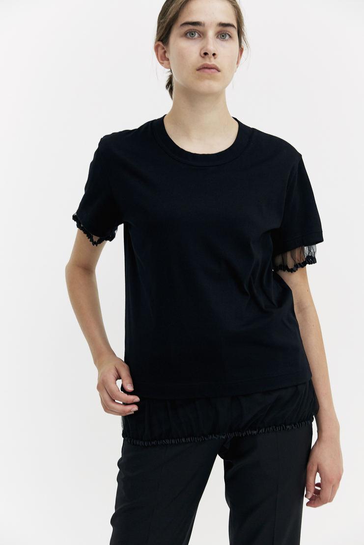 Noir Kei Ninoamiya Black T-shirt short sleeve top a/w 17 aw17 Kie Nioyamia ninoamia