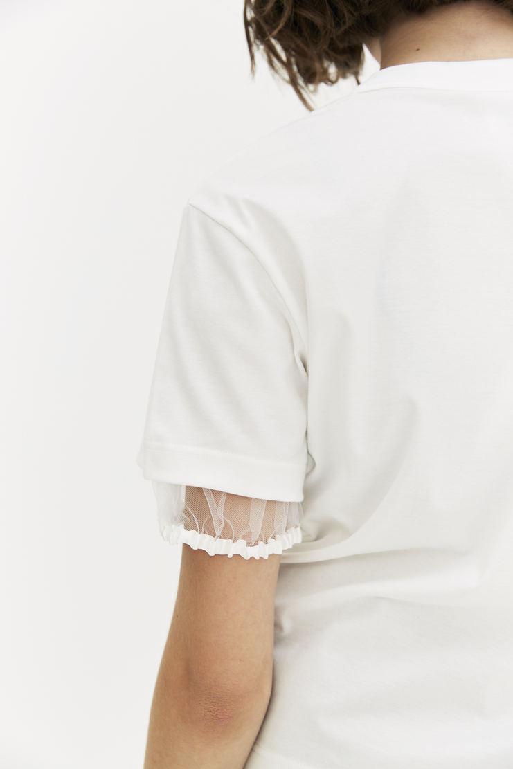 Noir Kei Ninoamiya White T-shirt short sleeve top a/w 17 aw17 Kie Nioyamia ninoamia