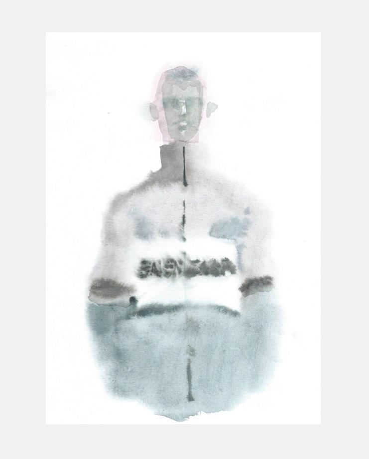 François-Henri Galland, Balenciaga , Paris Menswear, SHOWstudio, fashion illustration