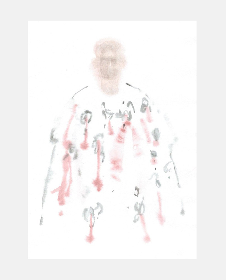 François-Henri Galland, Alexander McQueen , Paris Menswear, SHOWstudio, fashion illustration