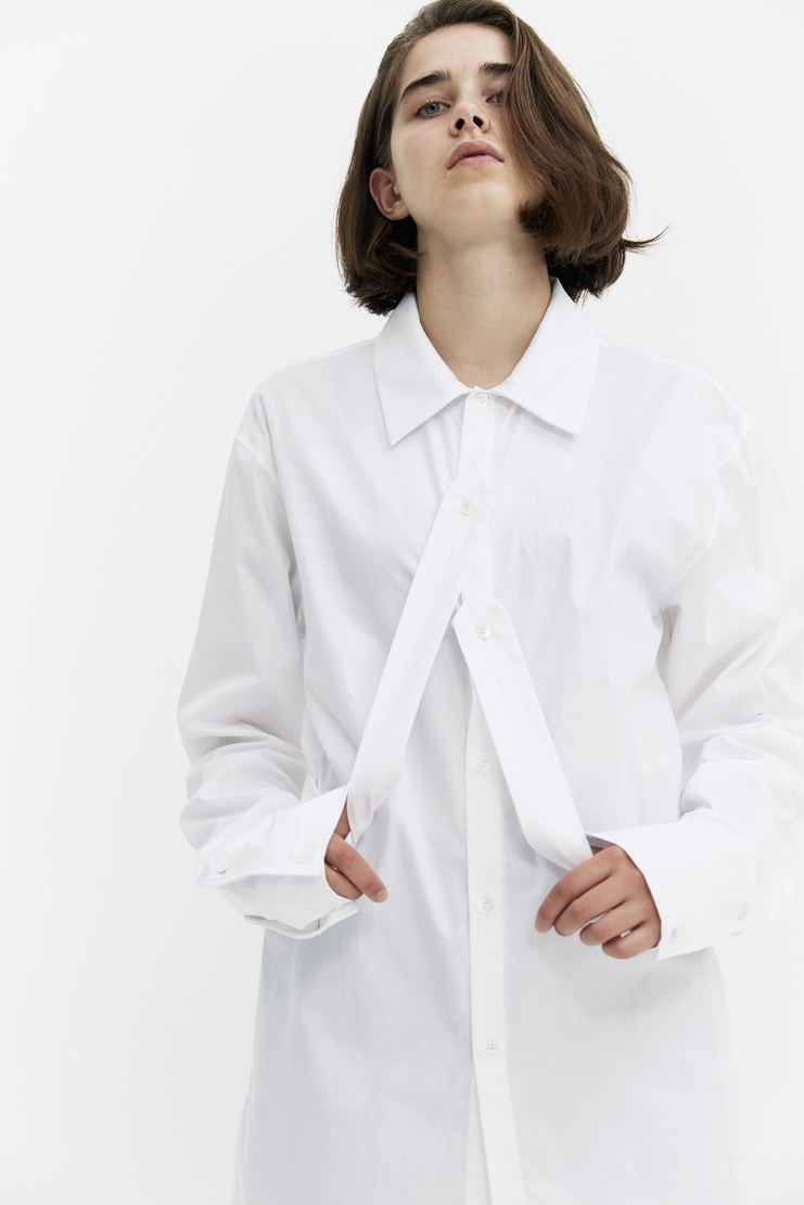DELADA Oversized Hanging Panel Shirt long sleeve front button fastening a/w 17 aw17 dilada