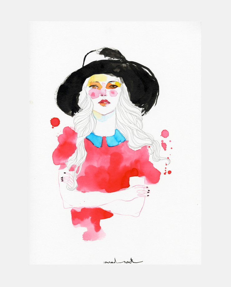 Sister By Sibling A/W 14, Conrad Roset, SHOWstudio, fashion illustration