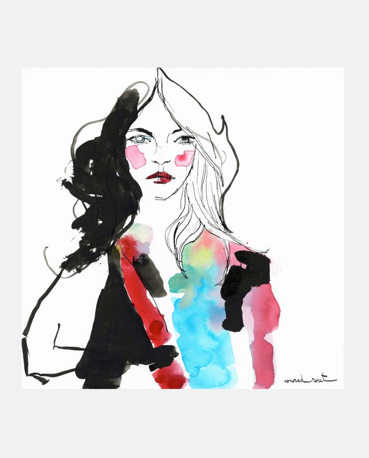 Burberry Prorsum A/W 14, Conrad Roset, SHOWstudio, fashion illustration