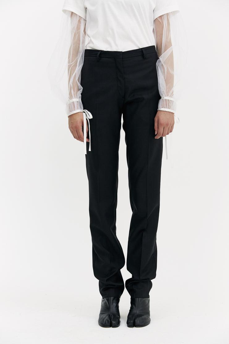 DELADA Black Reversible Trousers bottoms open seams pockets straight leg a/w 17 aw17 dilada
