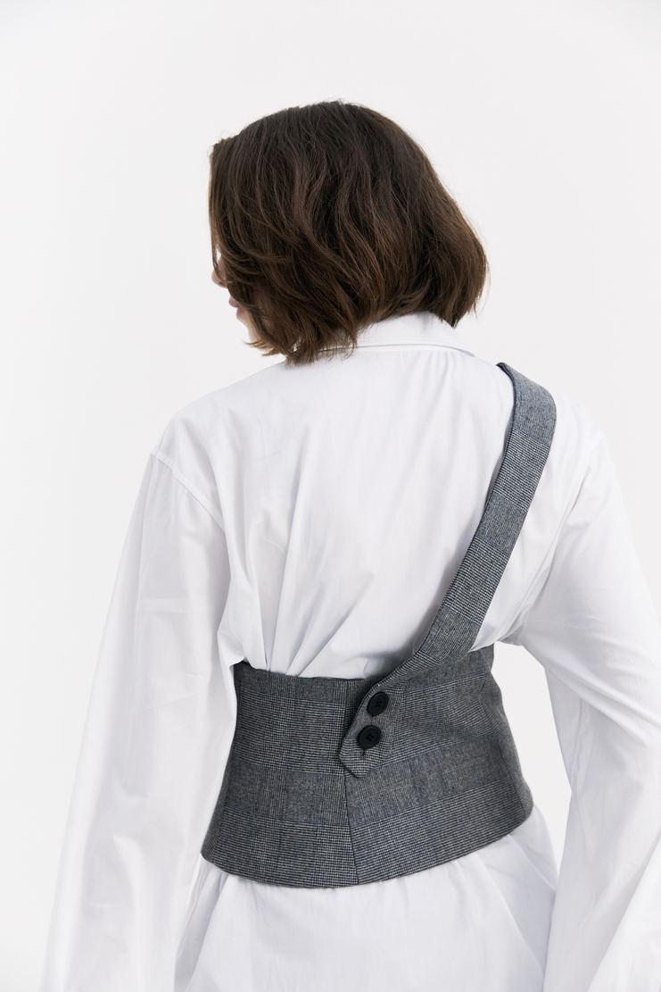 DELADA Grey Corset Belt waist belted strap a/w 17 aw17 dilada