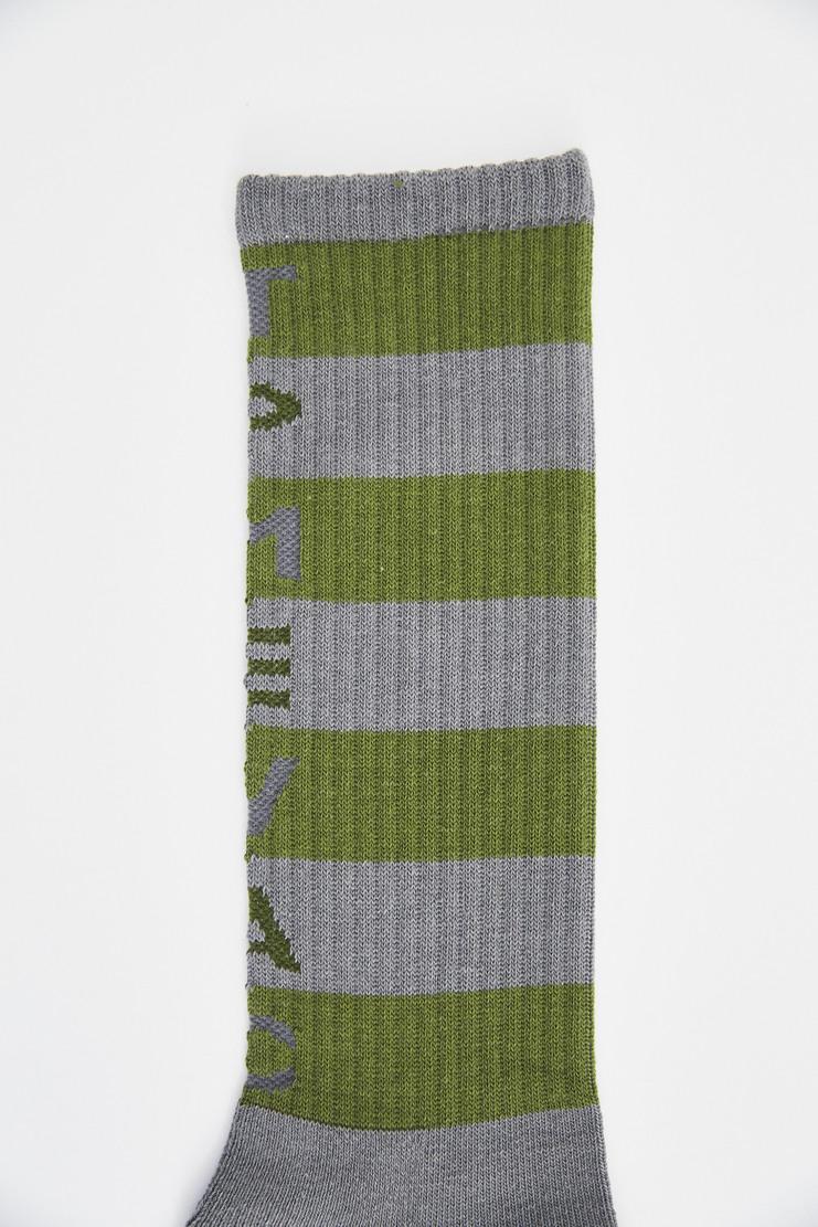 Cav Empt Grey Striped Socks green ribbed stripy sock a/w 17 aw17 cavempt
