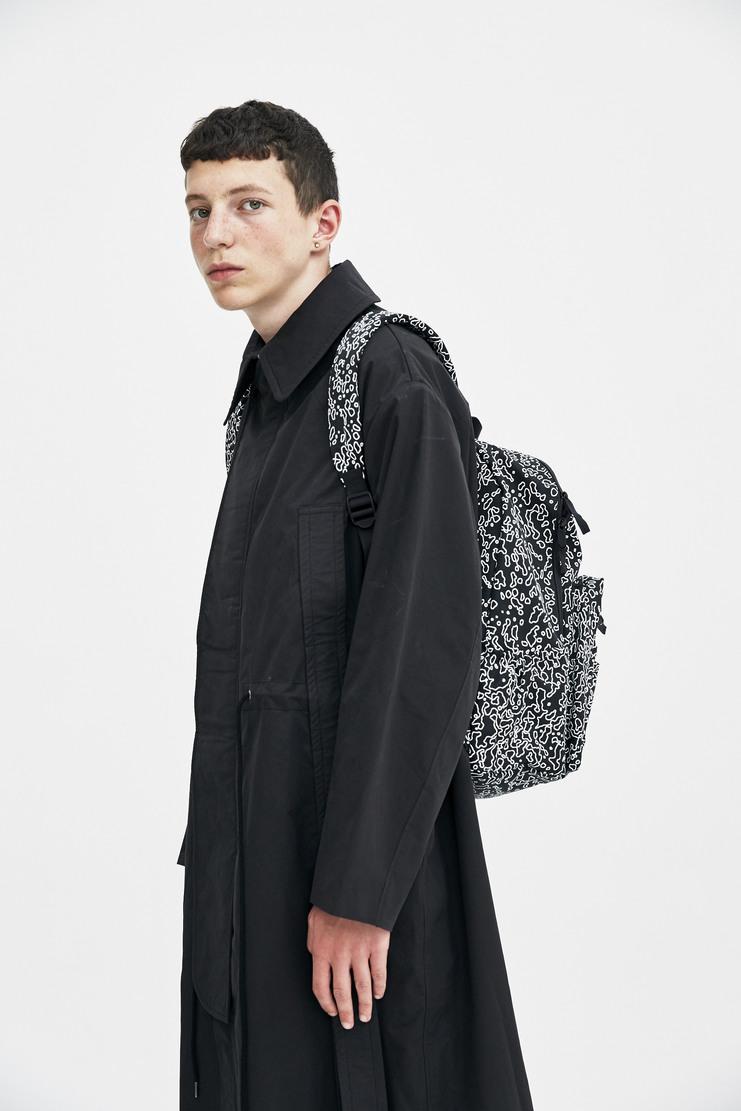 Cav Empt Black Noise Backpack shoulder straps graphic print logo a/w 17 aw17 cavempt