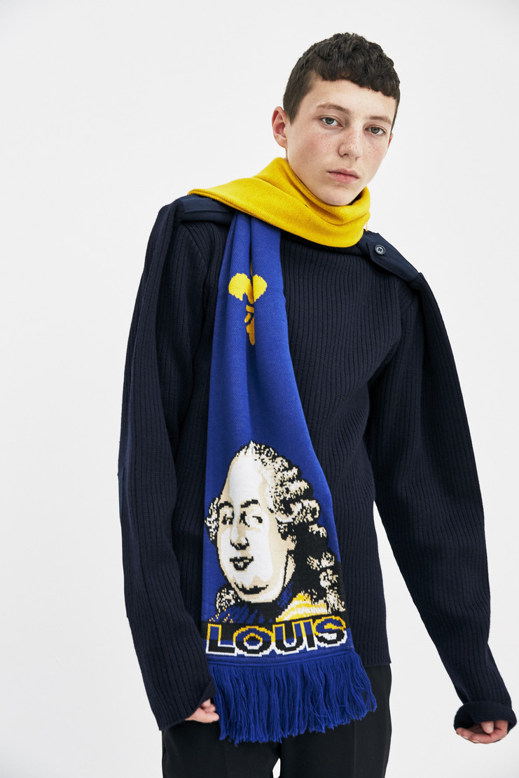 Y/Project Louis and Marie Scarf monarchy royal football scarf sports a/w 17 aw17 y project