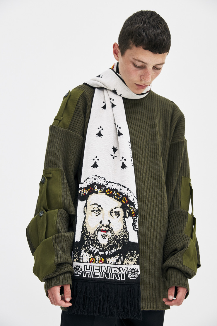 Y/Project Henry Scarf monarchy royal football scarf sports a/w 17 aw17 y project