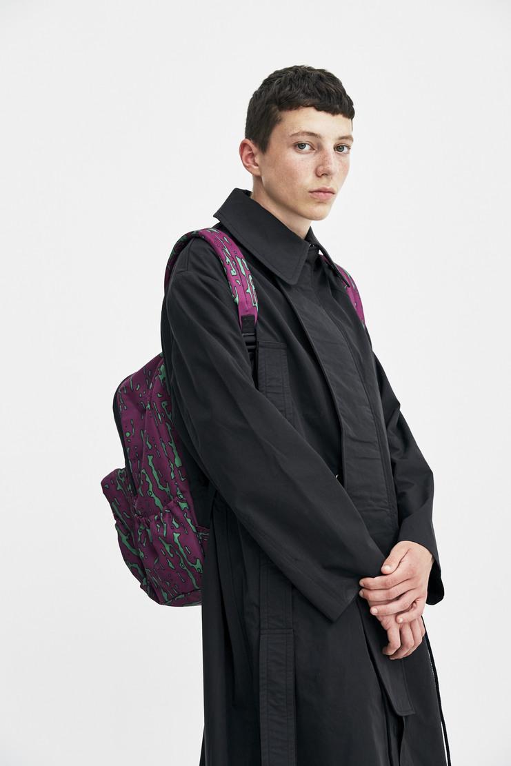 Cav Empt Purple Noise Backpack green shoulder straps graphic print logo a/w 17 aw17 cavempt