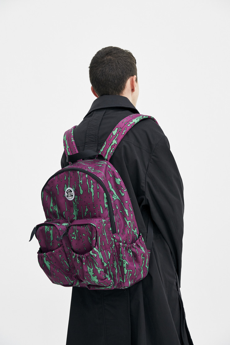Cav Empt Purple Noise Backpack green shoulder straps graphic print logo a/w 17 aw17 cavempt