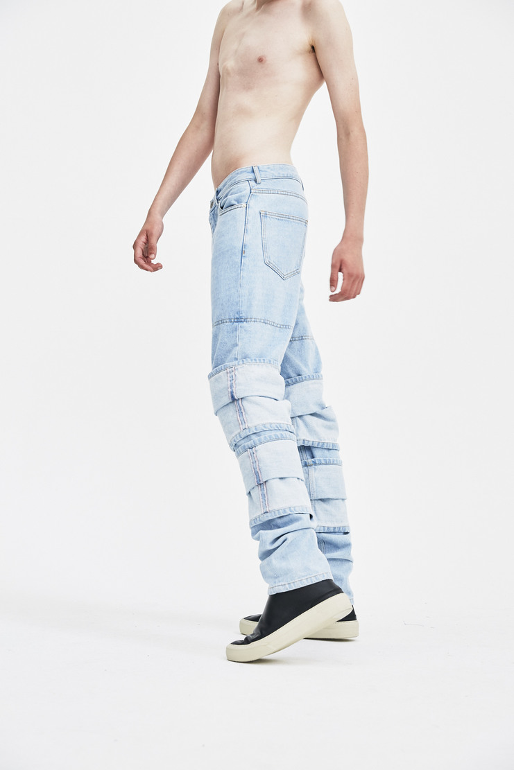 Y/Project Turn Up Jeans hem knee detail patch panel trousers a/w 17 aw17 y project