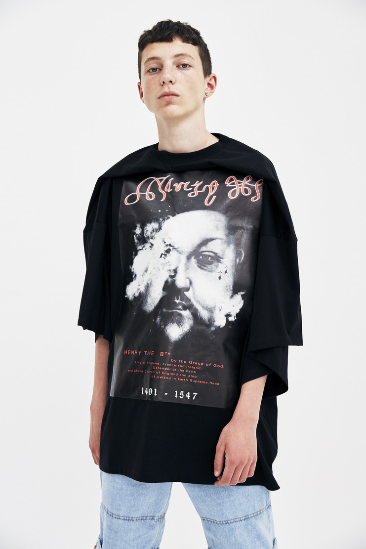 Y/Project Henry The 8th Top t-shirt royalty a/w 17 aw17 y project printed graphic black
