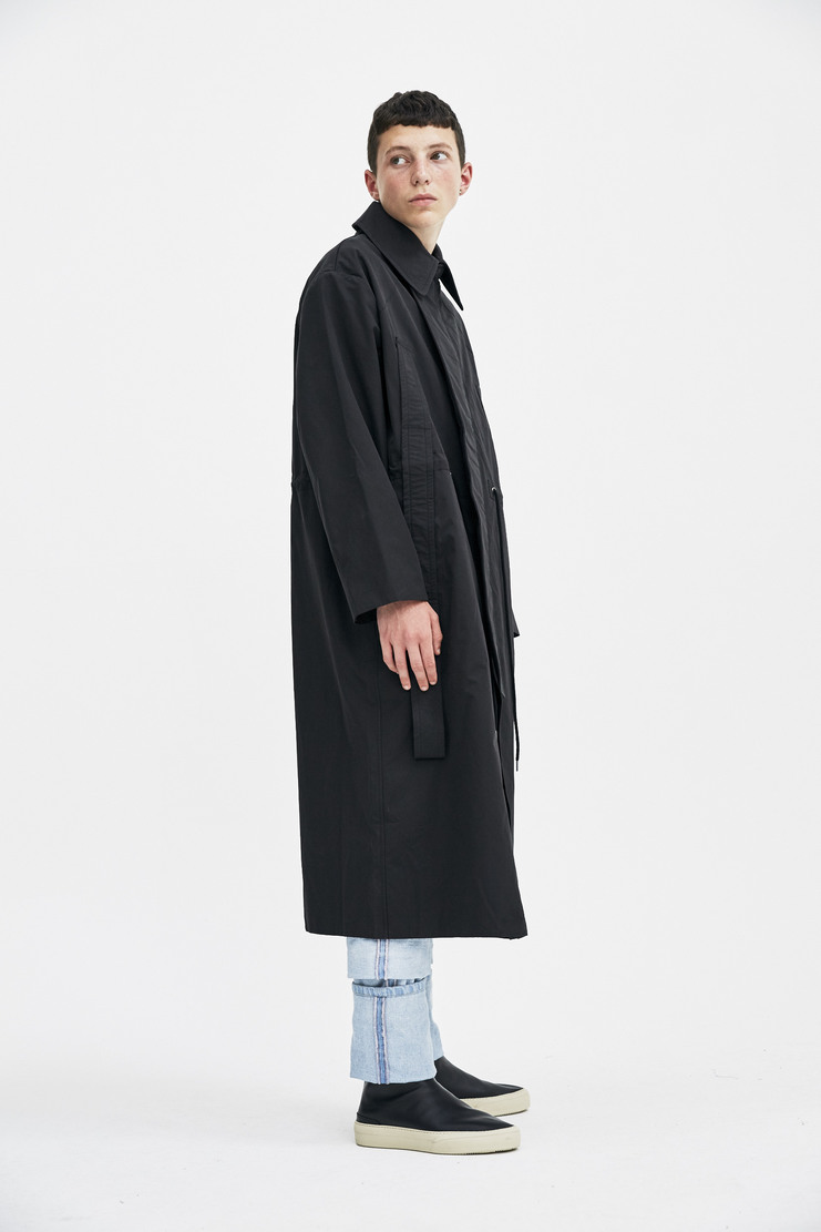Craig Green Black Handle Coat long drawstring waist pockets collar oversized greene a/w 17 aw17