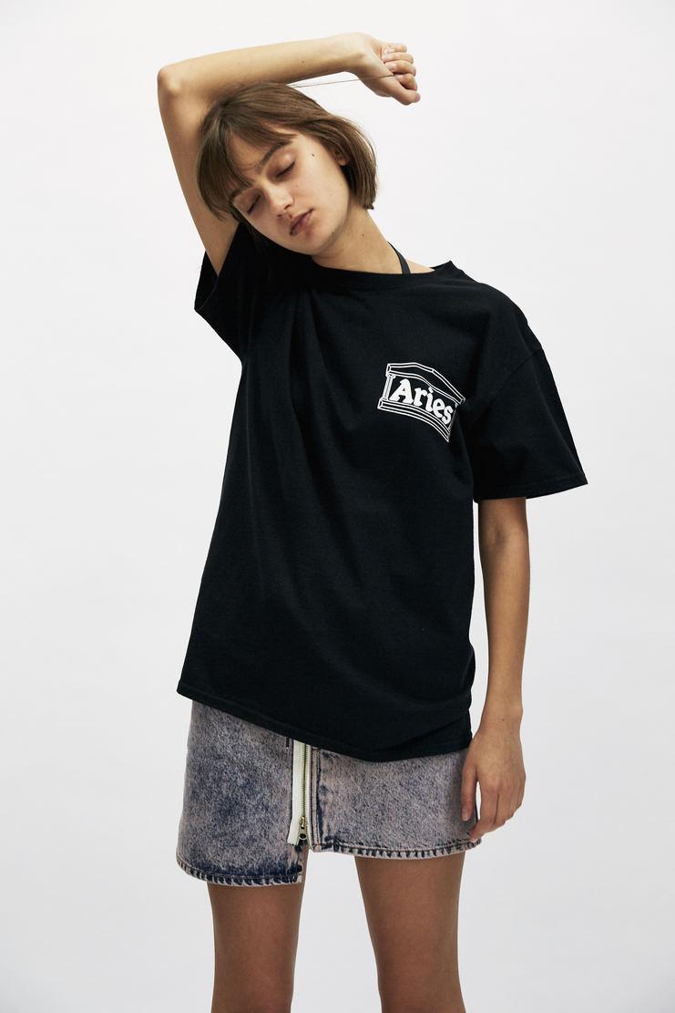 ARIES White Credit Card T-shirt AW17 A/W 17 Arise Top Logo Graphic