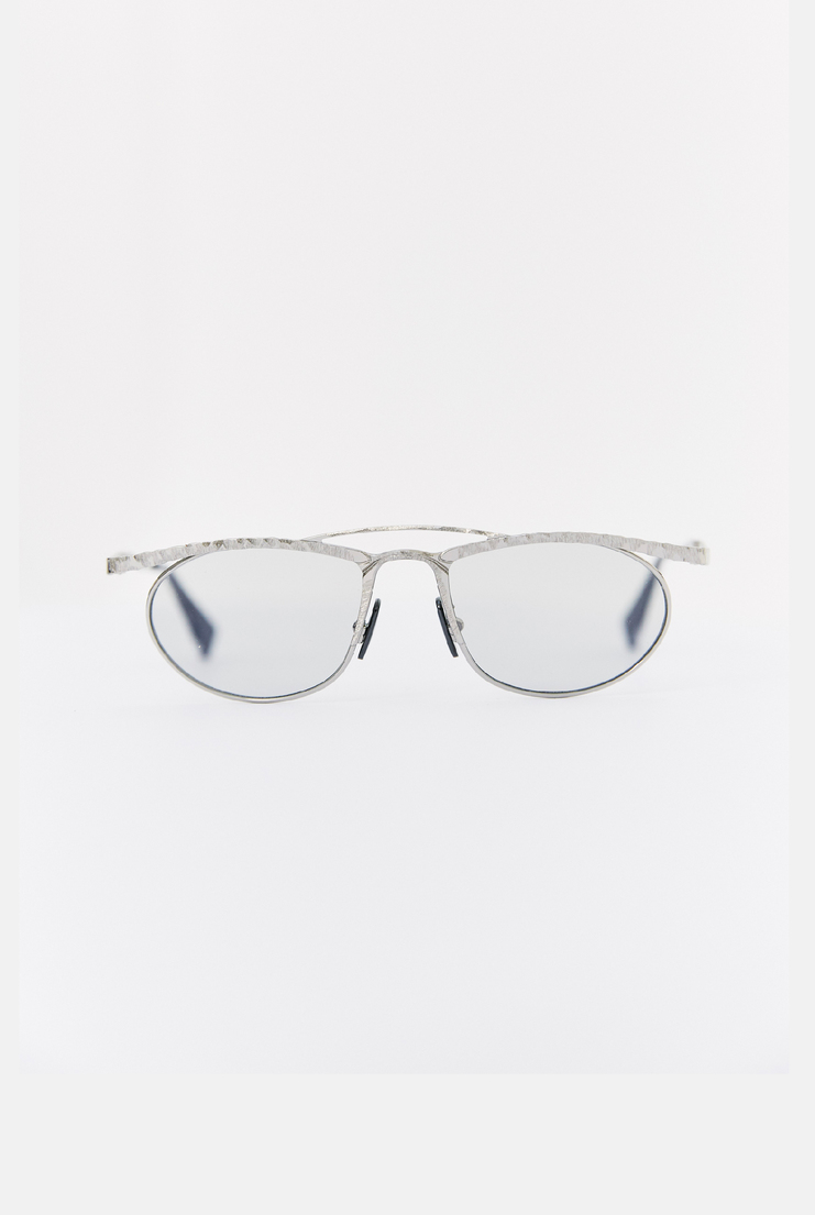 KUBORAUM 'H52' Aviator Sunglasses circle metal frame clear lens a/w 17 aw17 kubaraum