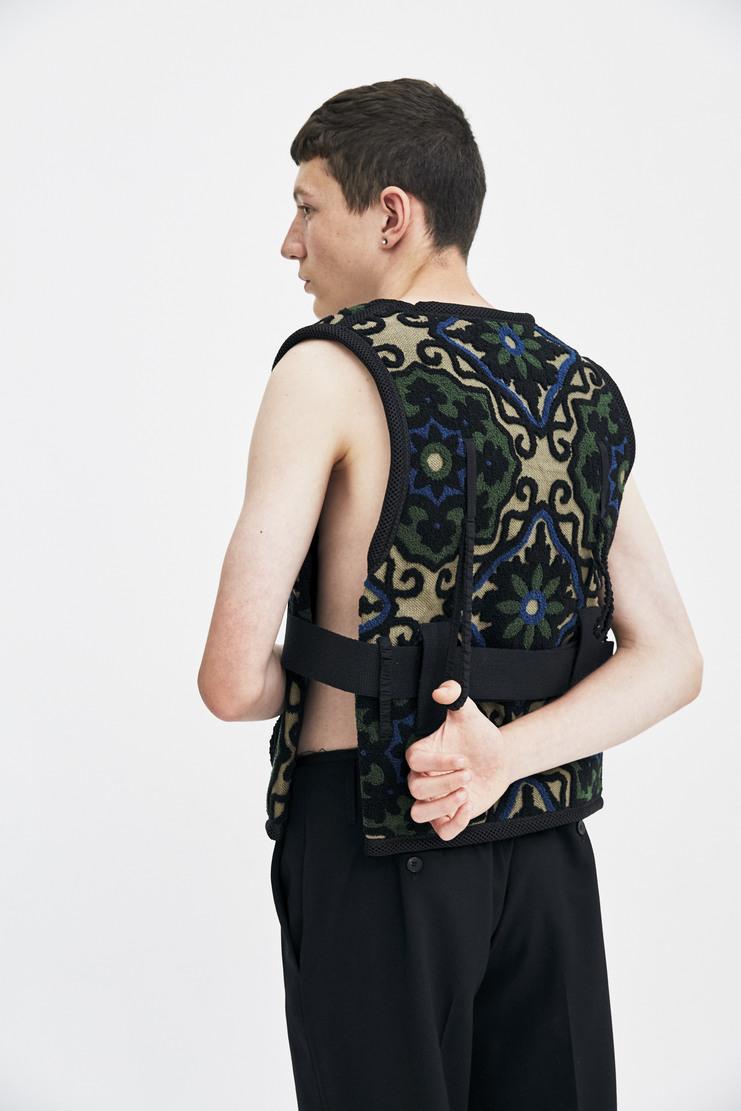 Craig Green Carpet Vest sleeveless open side decorative a/w 17 aw17 greene
