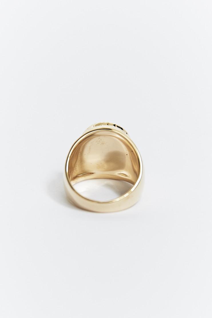 O Thongthai 'Malachite' Signet Ring AW17 A/W17 Tongthai Thong Thai Tongtai Jewelery Gold Green