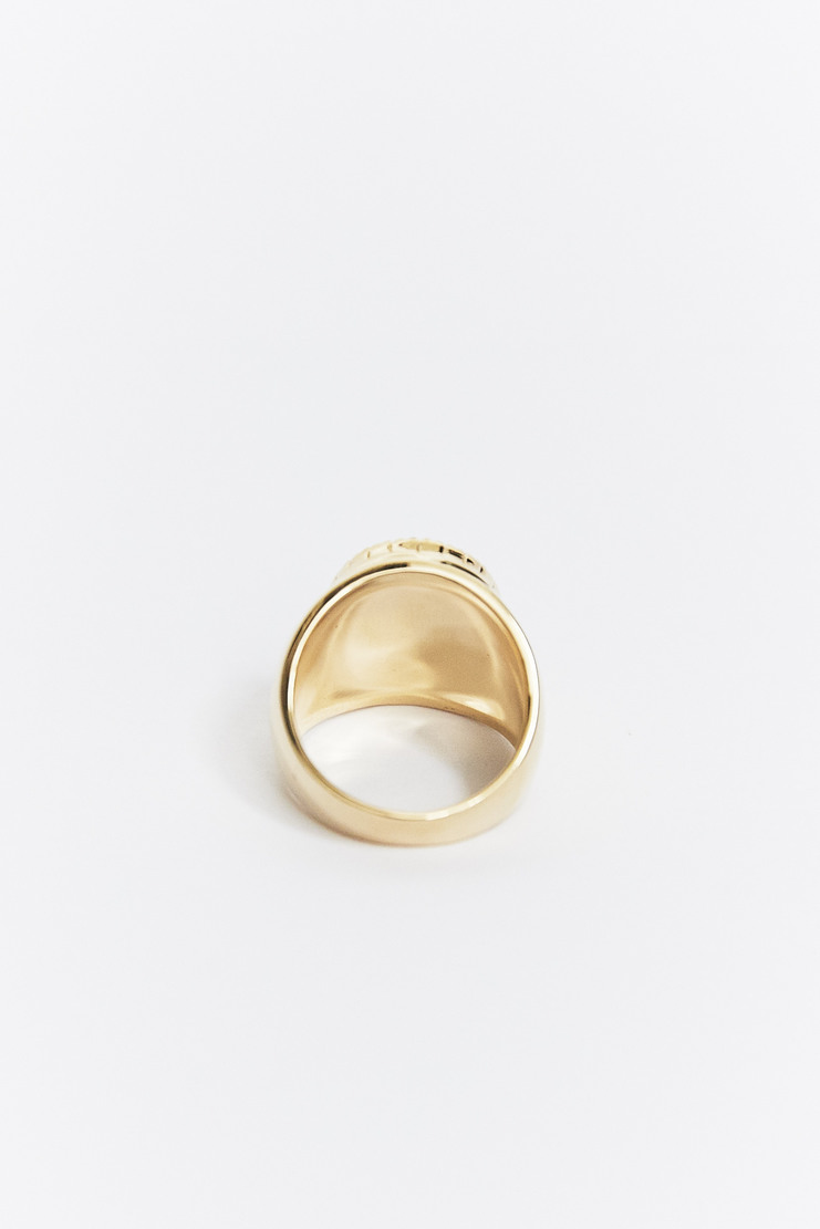 O Thongthai 'Howlite' Signet Ring AW17 A/W17 Tongthai Thong Thai Tongtai Jewelery Gold White