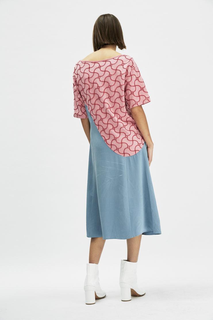 SIRLOIN Bombo Dress AW17 A/W17 Sir Loin Pink Blue