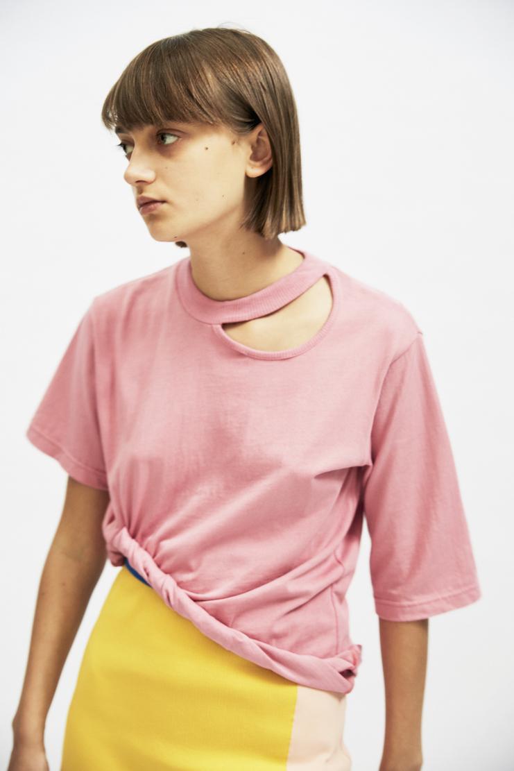 SIRLOIN Rolland T-Shirt AW17 A/W17 Sir Loin Top Pink Mao Usami Alve Lagercrantz