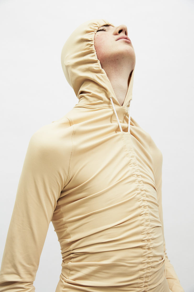 Per Gotesson Nude Body Hood top fitted tight long sleeve lycra a/w 17 aw17 nude invisible perr goteson
