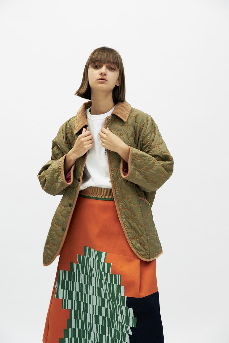 SIRLOIN Briebo Jacket AW17 A/W17 Sir Loin Quilted Coat Green Mao Usami Alve Lagercrantz