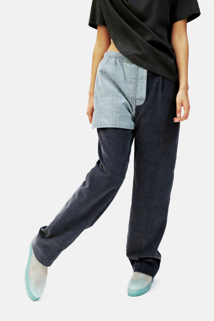 SIRLOIN Trunkers Trousers AW17 A/W17 Sir Loin Corduroy Cord Panel Navy