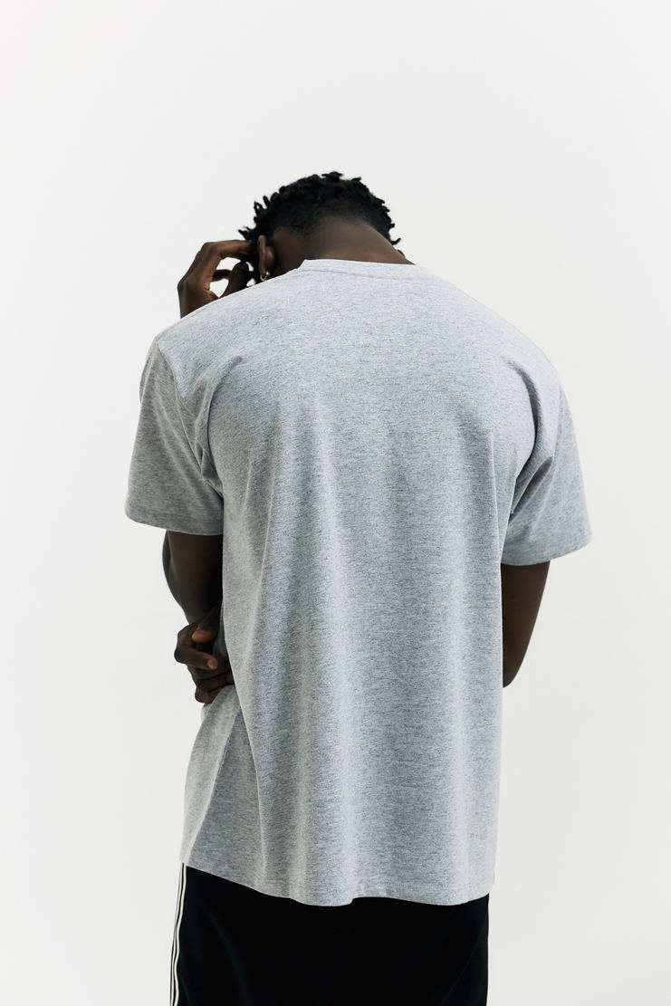 Raf Simons Presenting Partners T-Shirt AW17 A/W17 Simmons Logo Print Grey