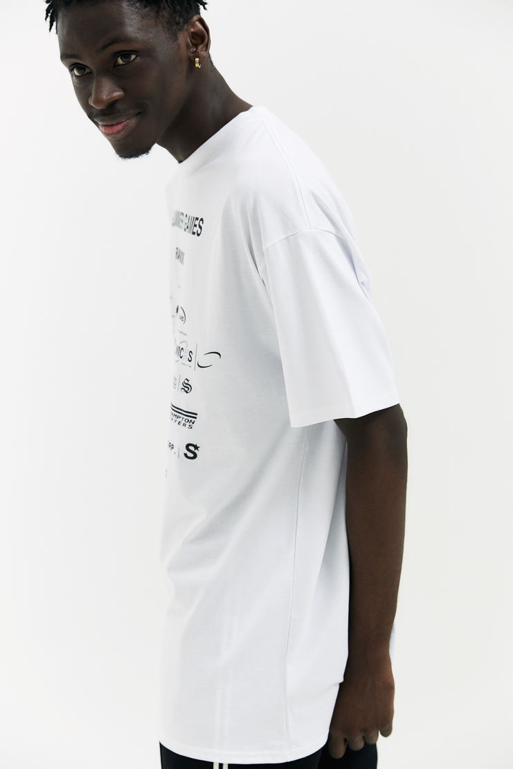 Raf Simons Summer Games T-shirt white short sleeve rounded neckline classic fit a/w 17 aw17 raff simmons italy