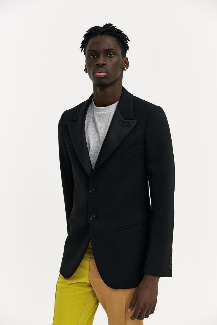 Raf Simons Satin Reverse Blazer AW17 A/W17 Simmons Suit Black Wool