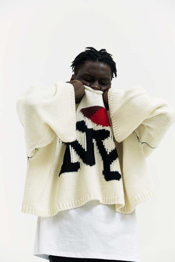 Raf Simons Oversized Jacquard T-Shirt AW17 A/W17 Raff Simmons Simon I Love NY New York