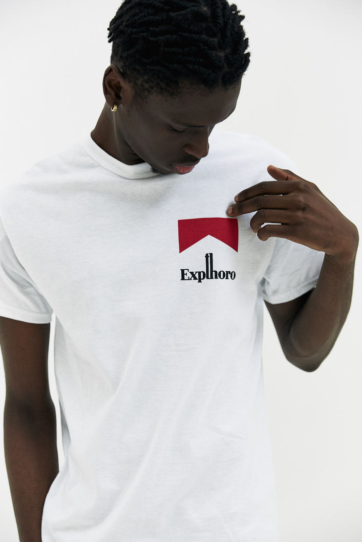 EXPERT HORROR Cigarettes T-Shirt AW17 A/W17 Cigarette Graphic White Marlboro Logo Graphic