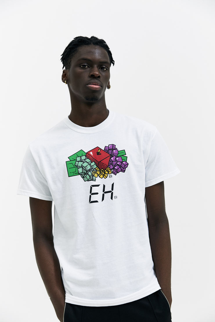 EXPERT HORROR Consumer Goods T-Shirt AW17 A/W17 Products Graphic White Multi-coloured Fruit EH