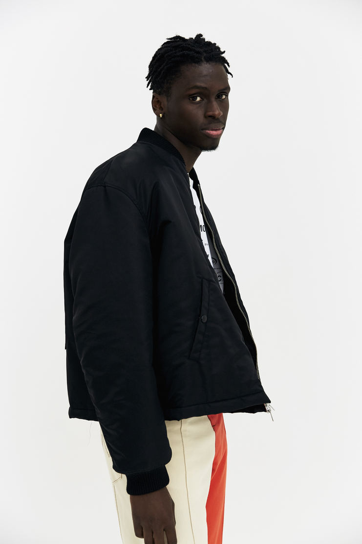 Raf Simons Short Bomber Jacket black padded oversized cropped a/w 17 aw17 italy antwerp simmons simon nightmare
