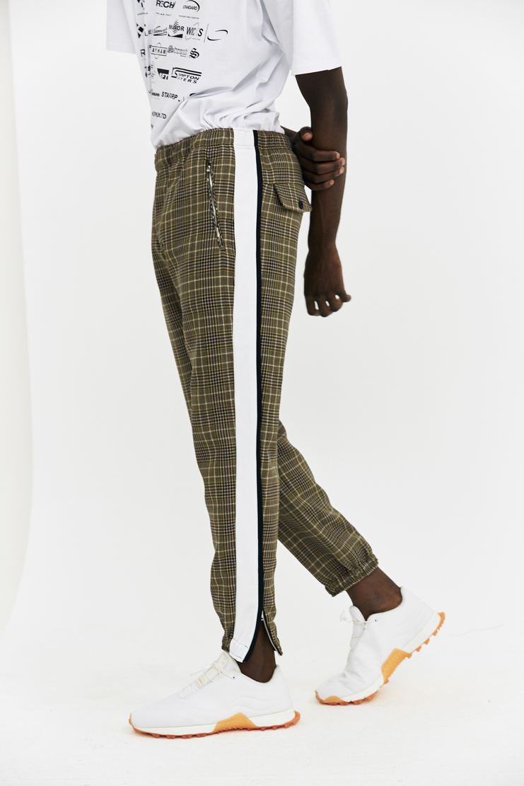 Tim Coppens Checked Lux Joggers tracksuit pants trousers trackpants a/w17 aw17