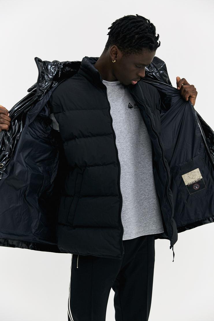 Martine Rose x Napapijri Rainforest Snoop coat black oversized waistcoat gilet padded double layer a/w 17 aw17 napapijiri