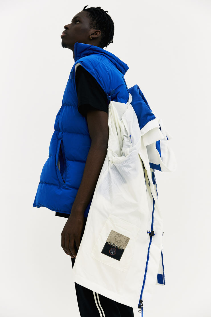 Martine Rose x Napapijri Blue Rainforest Common Jacket coat oversized double layer padded gilet a/w 17 aw17 napapijiri