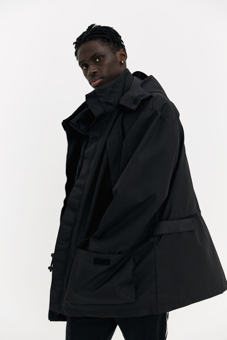 Martine Rose x Napapijri Black Rainforest Common Jacket coat oversized double layer padded gilet a/w 17 aw17 napapijiri