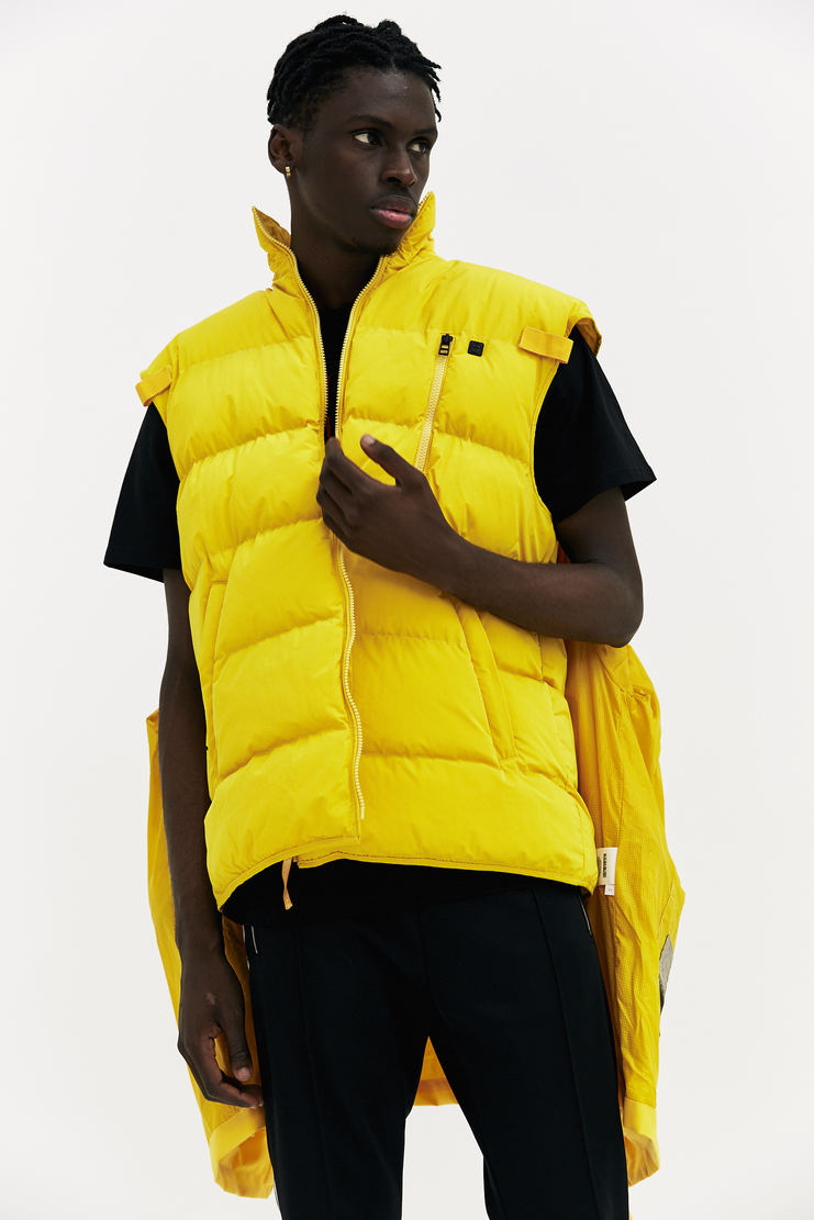 Martine Rose x Napapijri yellow Rainforest Common Jacket coat oversized double layer padded gilet a/w 17 aw17 napapijiri