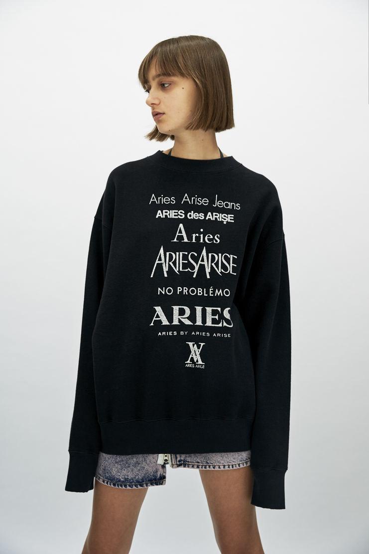 ARIES Black Perfume Sweatshirt long sleeve sweater jumper crewneck printed print logo a/w 17 aw17 arise