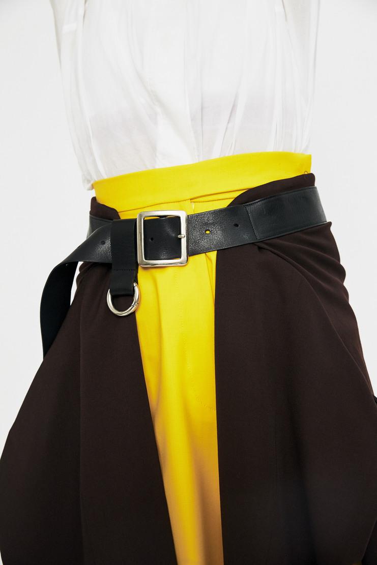 Ambush Brown Belt Jacket Kilt AW17 A/W 17  Leather Blazer Jacket Wool